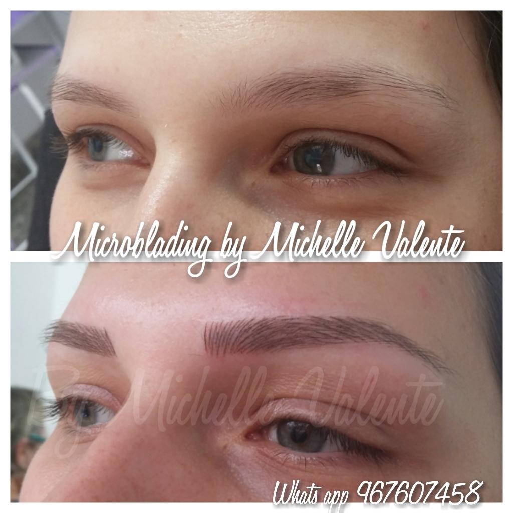 Microblading em loiras dermopigmentador(a) designer de sobrancelhas
