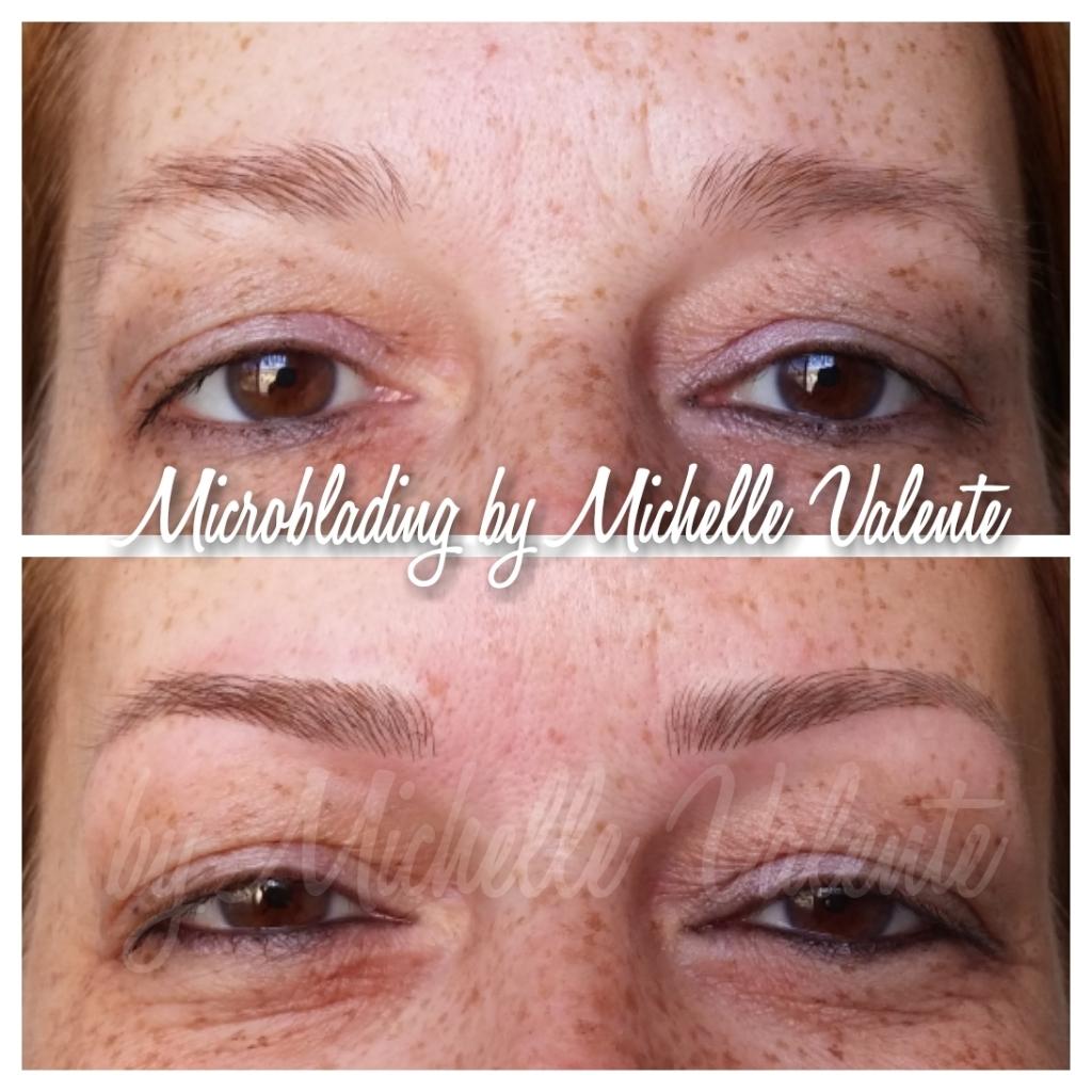 Microblading em ruivas dermopigmentador(a) designer de sobrancelhas