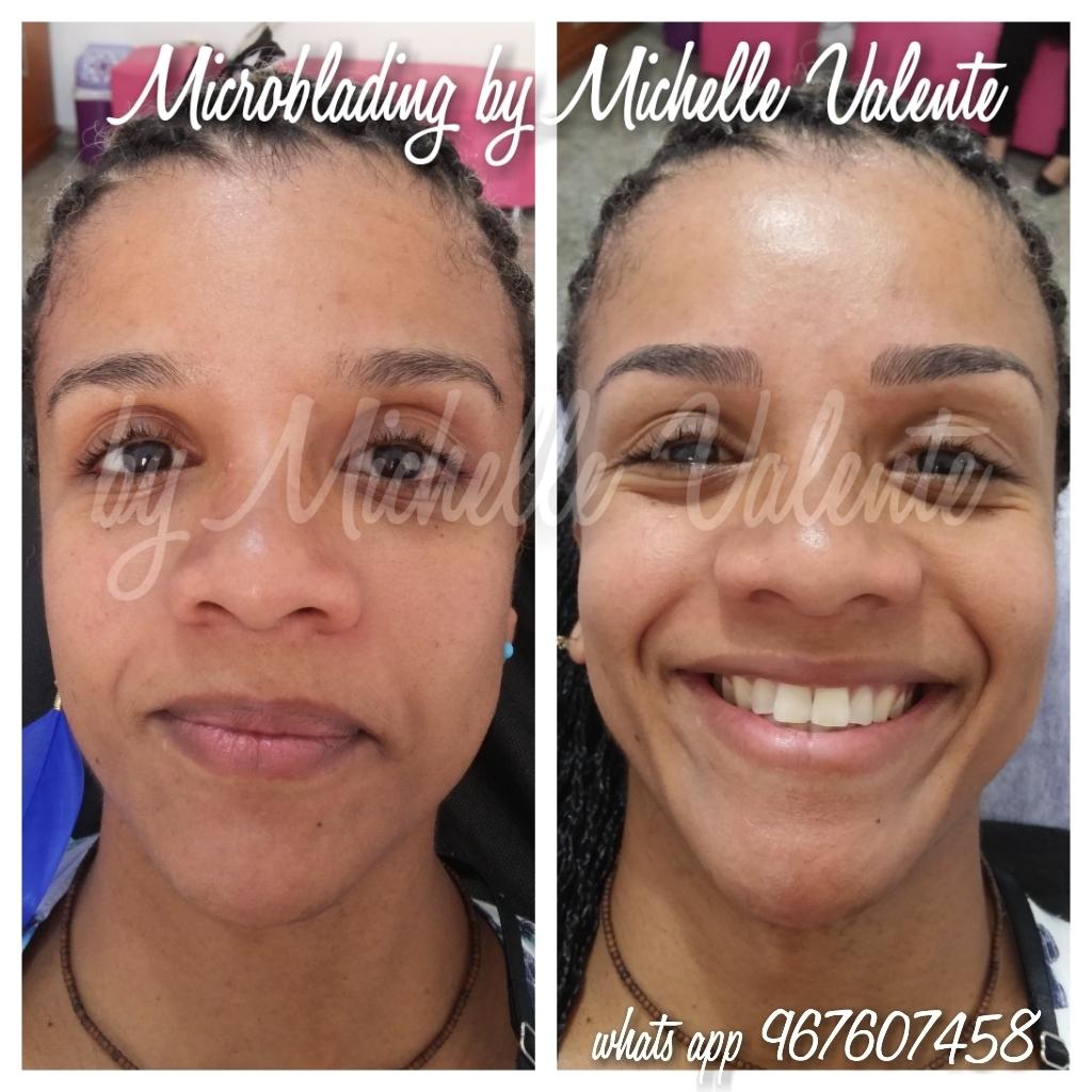 Microblading em negras dermopigmentador(a) designer de sobrancelhas