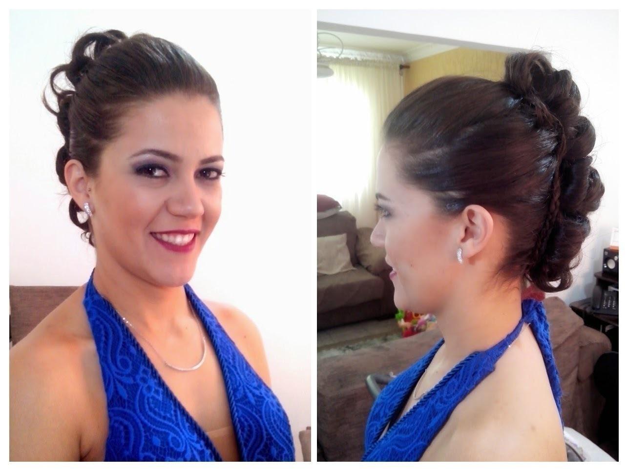 Madrinha de casamento Penteado Red Carpet e make cabelo cabeleireiro(a)