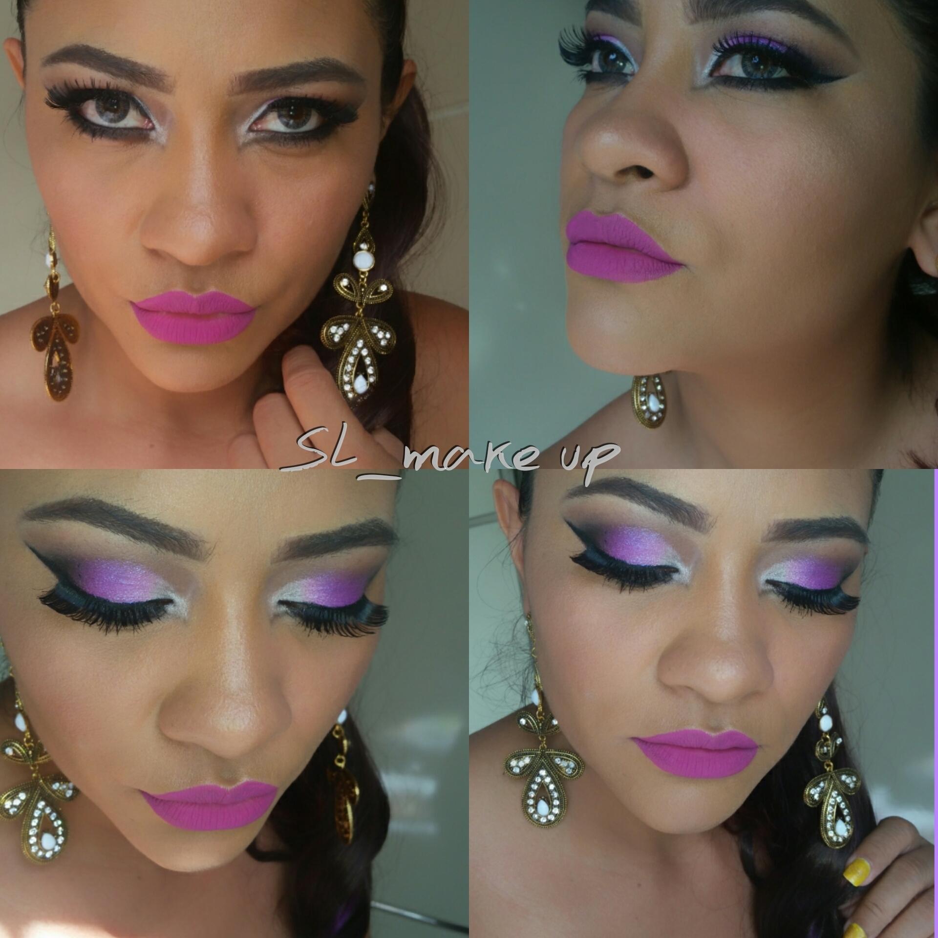 make up by Shirlene Lopes batom rosa  maquiagem