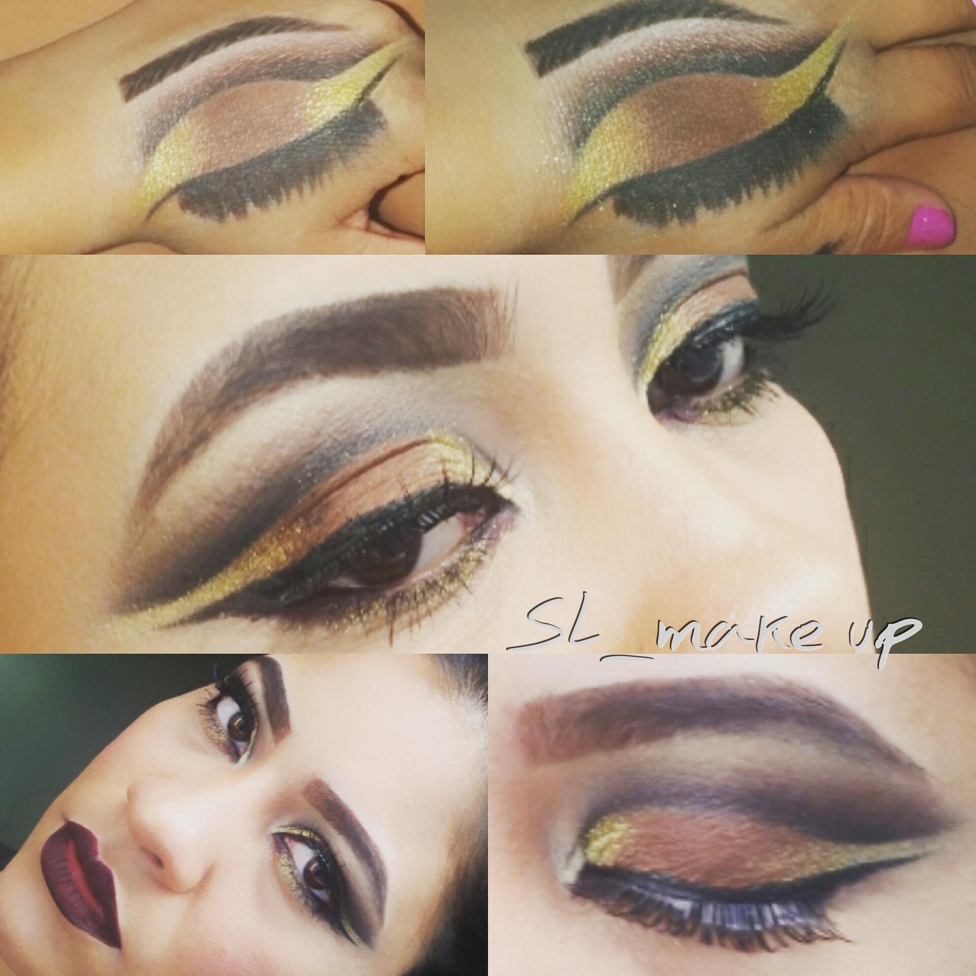 das mãos para os olhos maquiagem