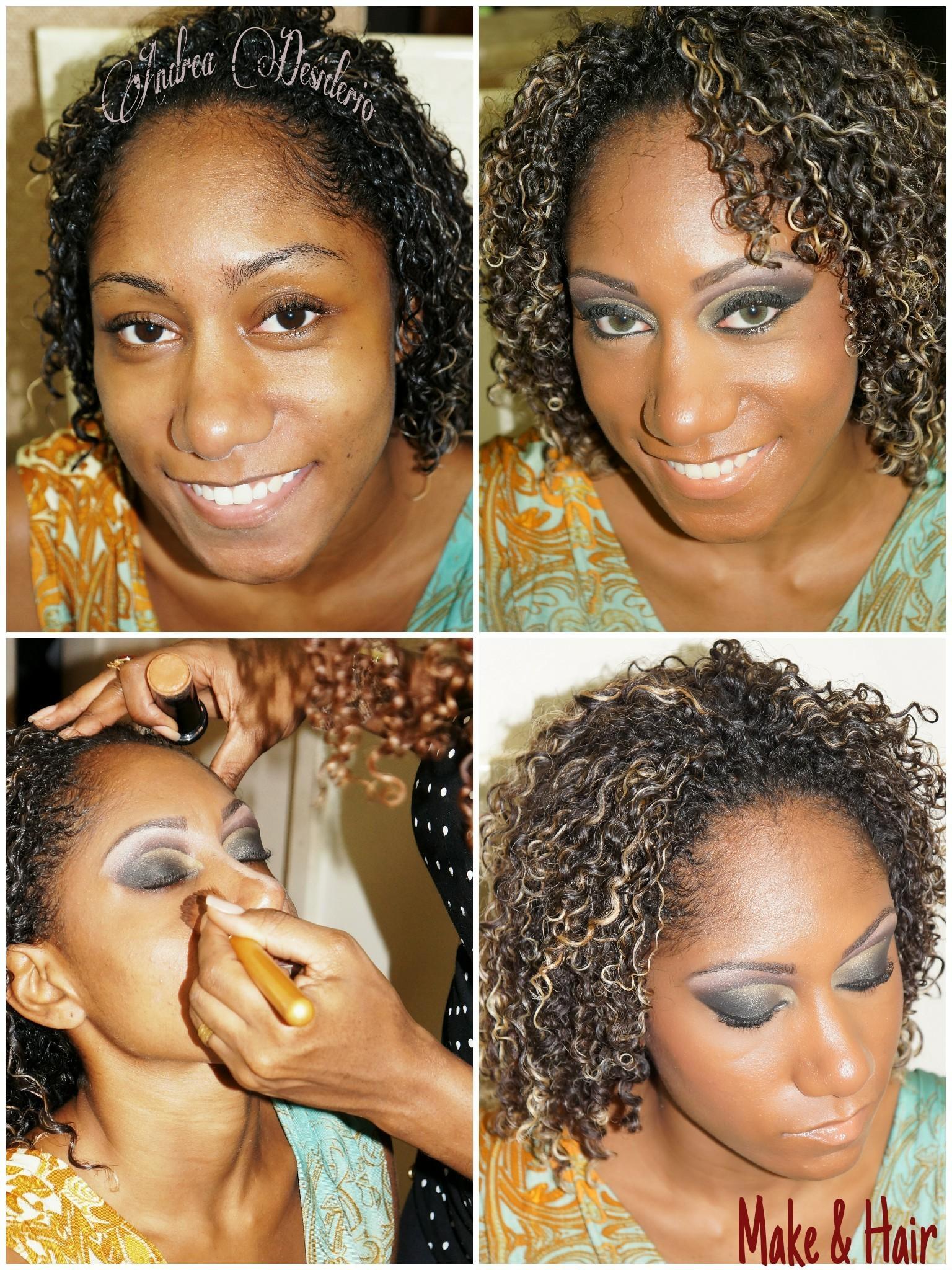 Make e hair Pequena transformação  cabelo  cabeleireiro(a) maquiador(a) designer de sobrancelhas