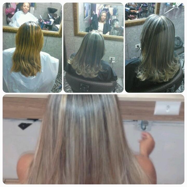 Antes e depois mechas Mechas 3 D cabeleireiro(a) vendedor(a)