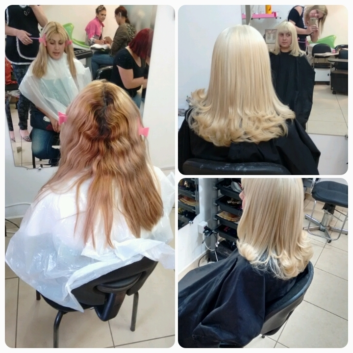 Descoloração Correção de cabelos manchados Correção de loiro  cabelo  cabeleireiro(a) vendedor(a)