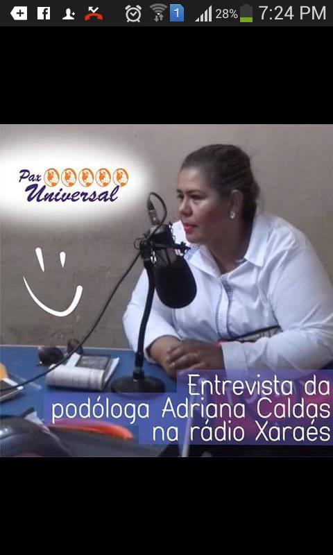 Entrevista Sendo entrevistada  no Rádio podólogo(a)
