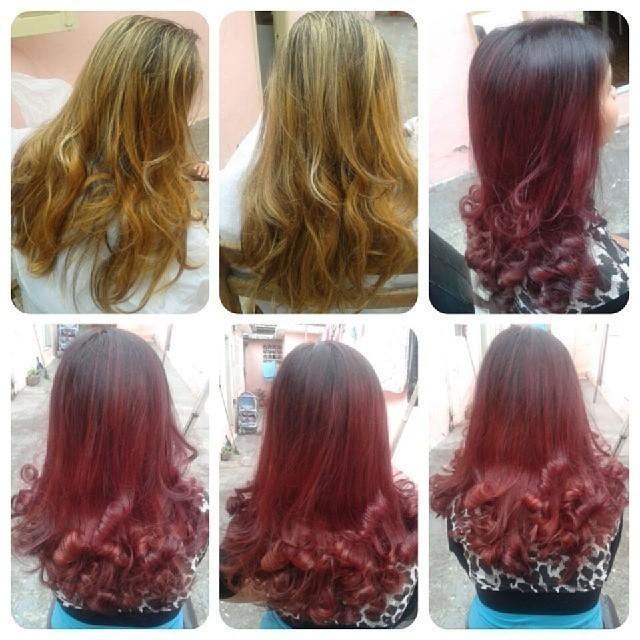 PIGMENTAÇÃO DA COR Vermelho  cabelo  cabeleireiro(a) designer de sobrancelhas maquiador(a) escovista