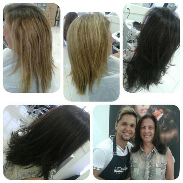 PIGMENTAÇÃO DA COR Preto  cabelo  cabeleireiro(a) designer de sobrancelhas maquiador(a) escovista