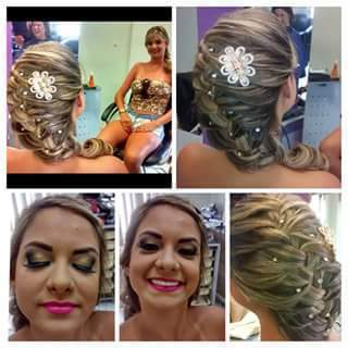 Glaucia  Penteado e maquiagem!  auxiliar cabeleireiro(a) maquiador(a) designer de sobrancelhas
