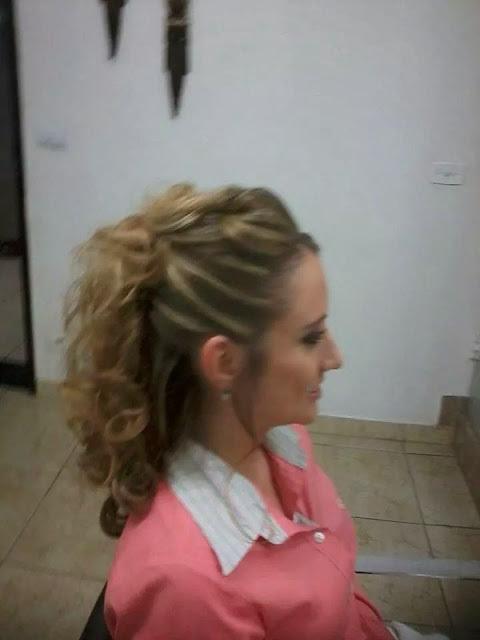 penteado Penteado para madrinha auxiliar cabeleireiro(a)