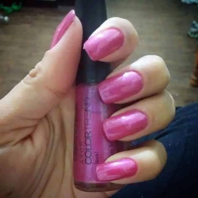 Rosa cintilante unhas  manicure e pedicure designer de sobrancelhas