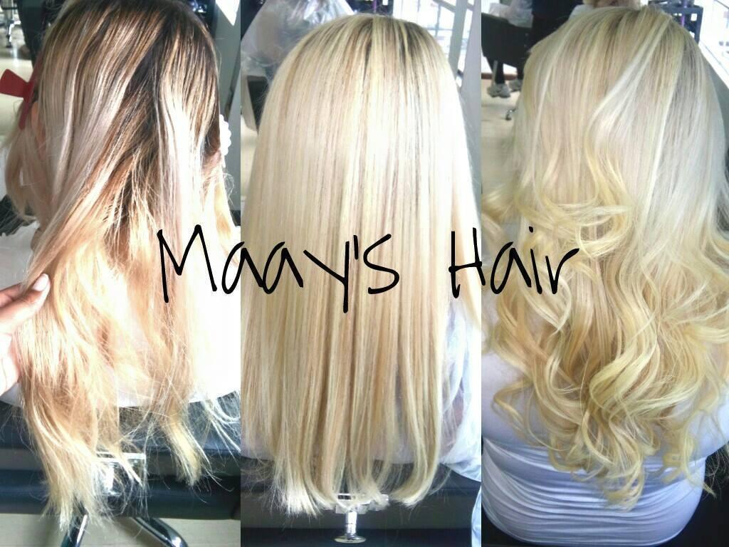 Mechas transparência, corte e escova modelasa Loiro  cabelo  cabeleireiro(a)