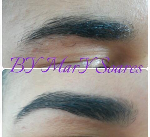 sobrancelha modelada Design de sobrancelha  estética  maquiador(a) designer de sobrancelhas auxiliar cabeleireiro(a)