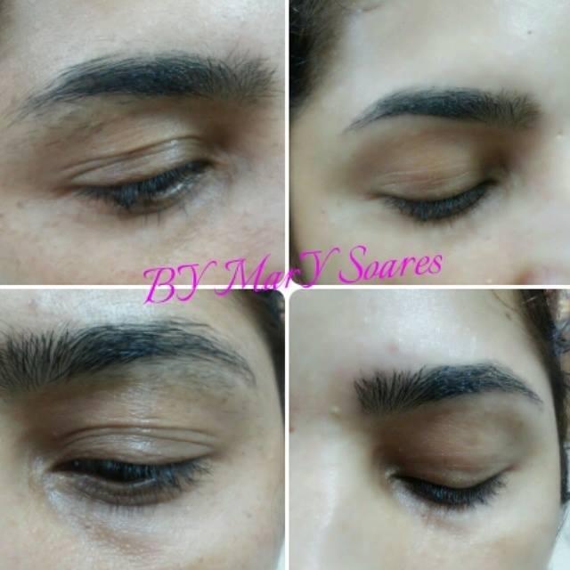 sobrancelha modelada maquiador(a) designer de sobrancelhas auxiliar cabeleireiro(a)
