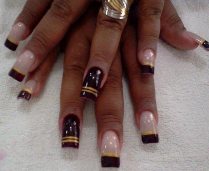 Francesinhas decoradas  Francesinha preta  unhas  manicure e pedicure