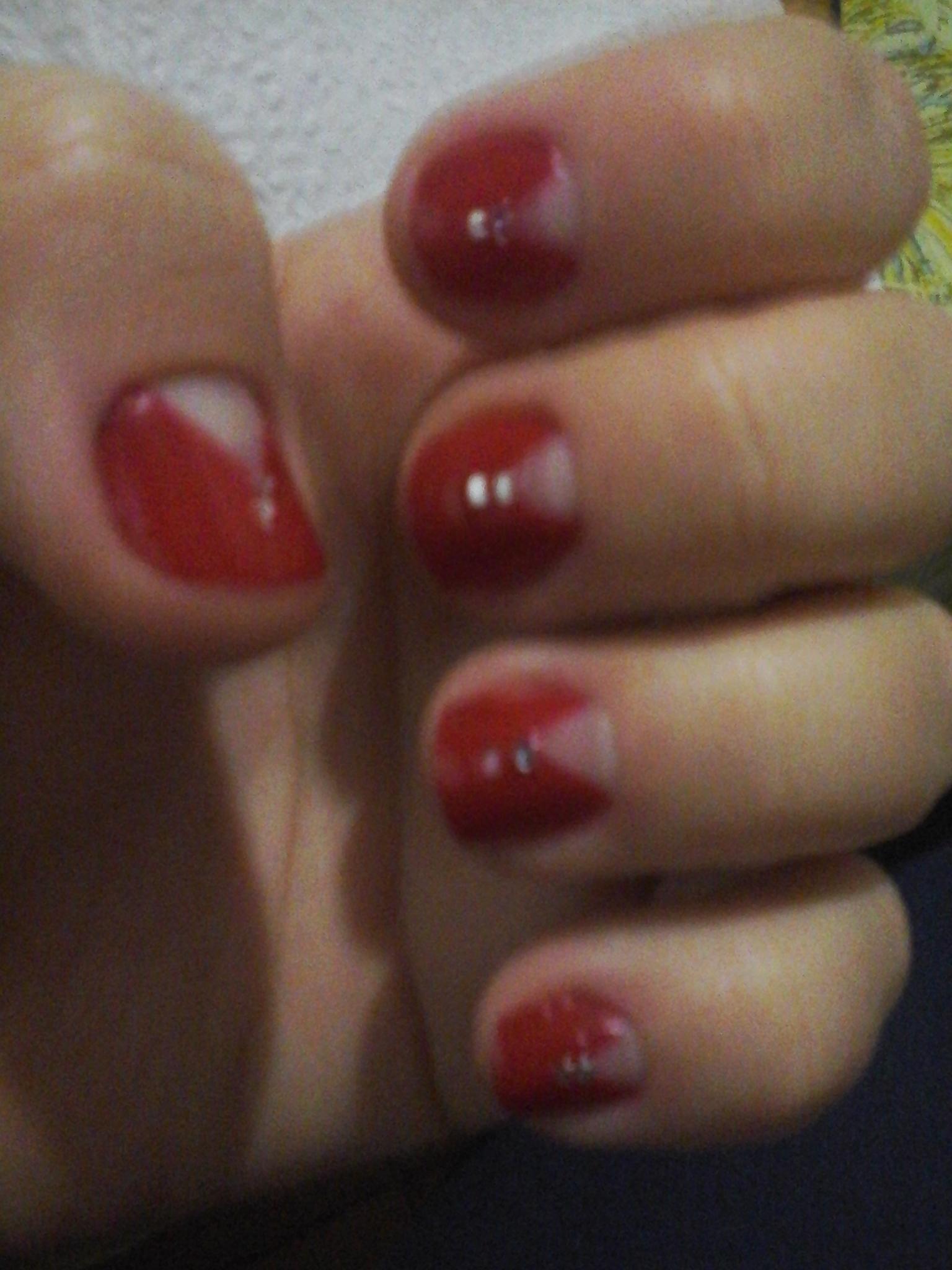 Unha em V manicure e pedicure