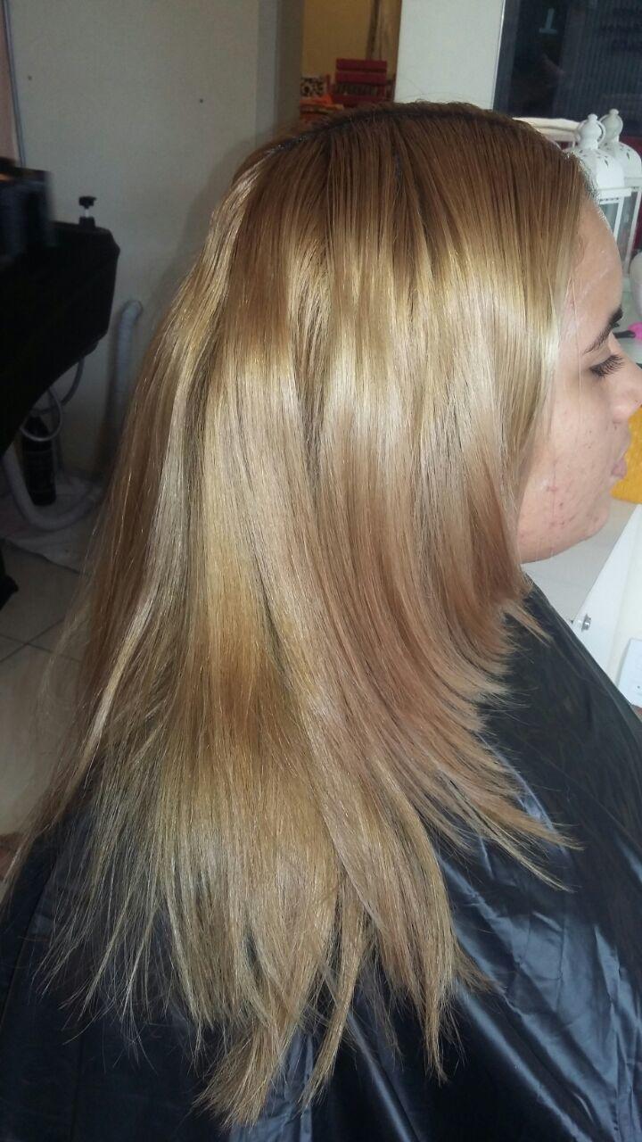 Colorimetria Antes cabeleireiro(a)