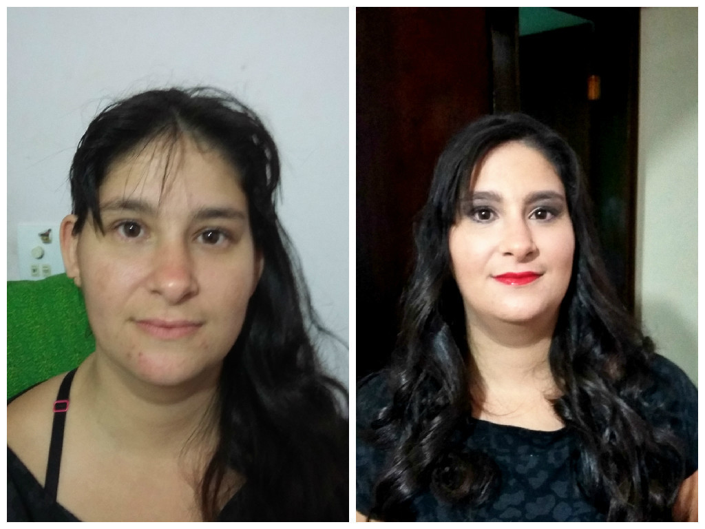 Antes e depois maquiador(a)