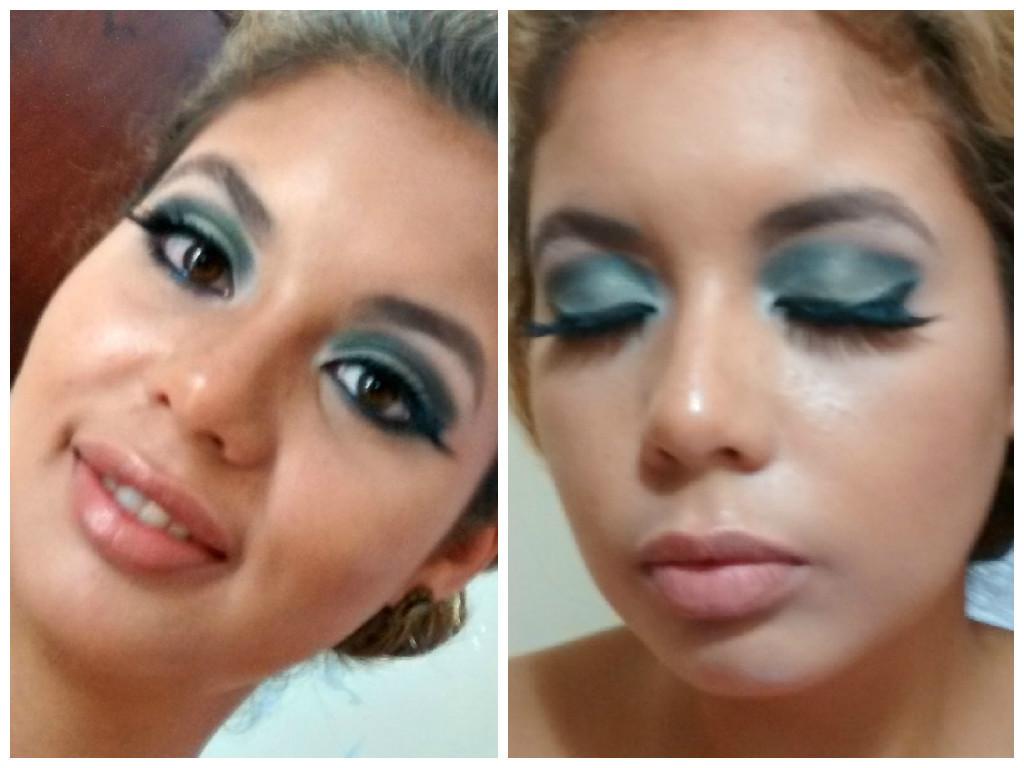 Maquiagem verde maquiador(a)