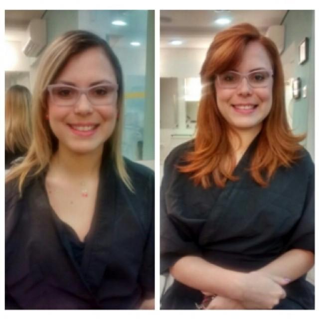 Cor e corte cabeleireiro(a) maquiador(a) designer de sobrancelhas