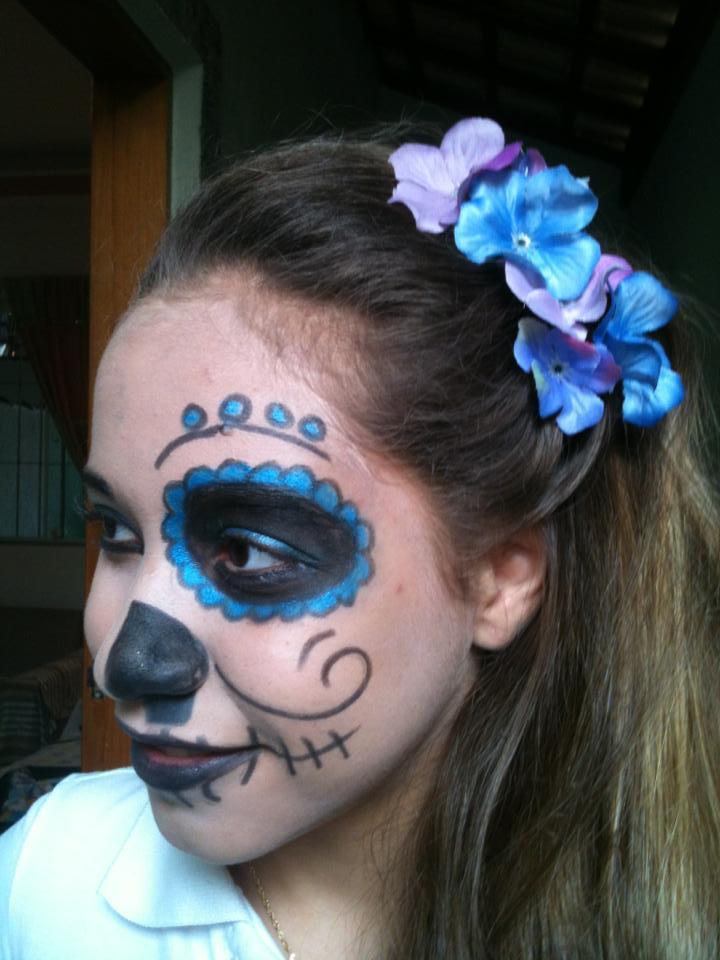 Caveira mexicana maquiagem maquiador(a) auxiliar cabeleireiro(a) depilador(a)