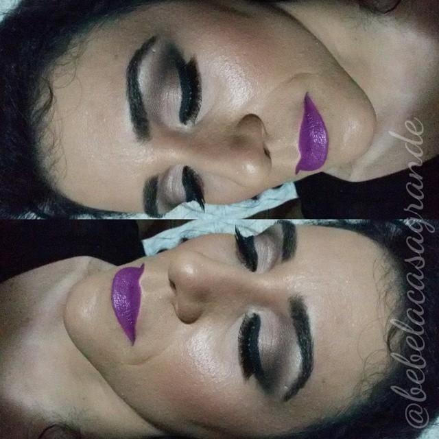batom roxo maquiagem  maquiador(a) fisioterapeuta