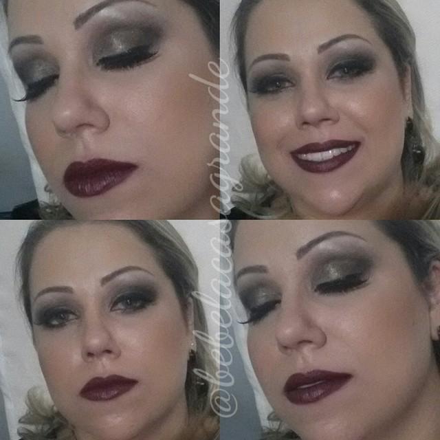 batom vinho maquiagem  maquiador(a) fisioterapeuta