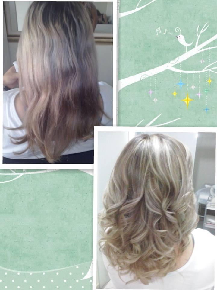 correção o cabelo estava todo manchado , então tonalizei a raiz  com o tom original do cabelo 5.1, logo depois puxei algumas luzes costuradas e fiz transparências desfiadas nas pontas do cabelo, maquiador(a) cabeleireiro(a) designer de sobrancelhas auxiliar cabeleireiro(a)