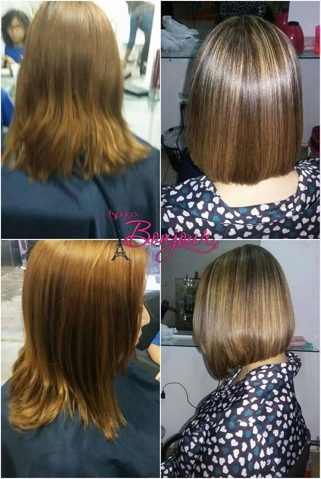 corte e luzes corte chanel com bico  levemente acentuado, luzes caramelo no tom de 7.4  maquiador(a) cabeleireiro(a) designer de sobrancelhas auxiliar cabeleireiro(a)