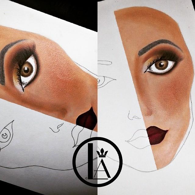 Face chart maquiador(a)