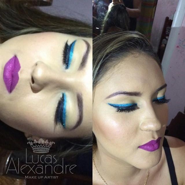 Delineado duplo maquiagem maquiador(a)