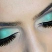 make up tom de verde com preto, ♥