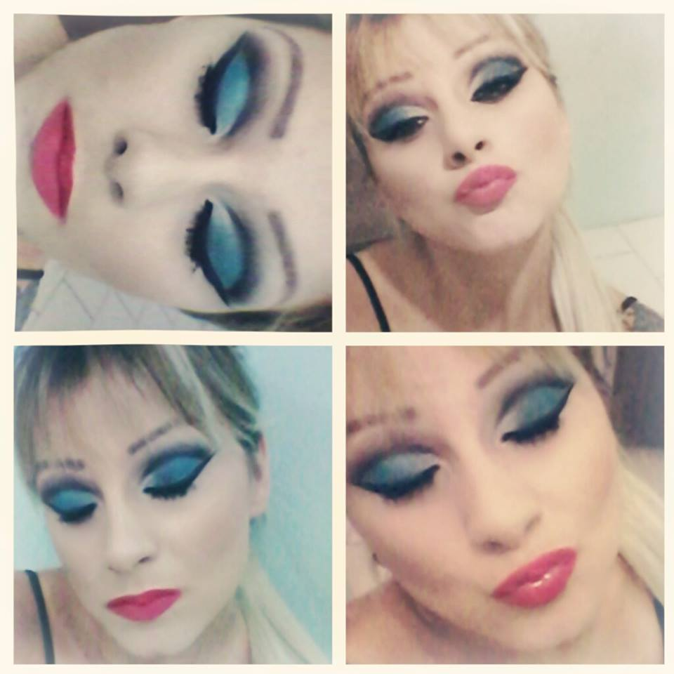 cut crease tons azuis ♥ maquiador(a)