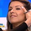 Como modelo da Super Makeup Artist Simone Tinelli - Programa Hoje em dia.Design de sobrancelhas com sombra.