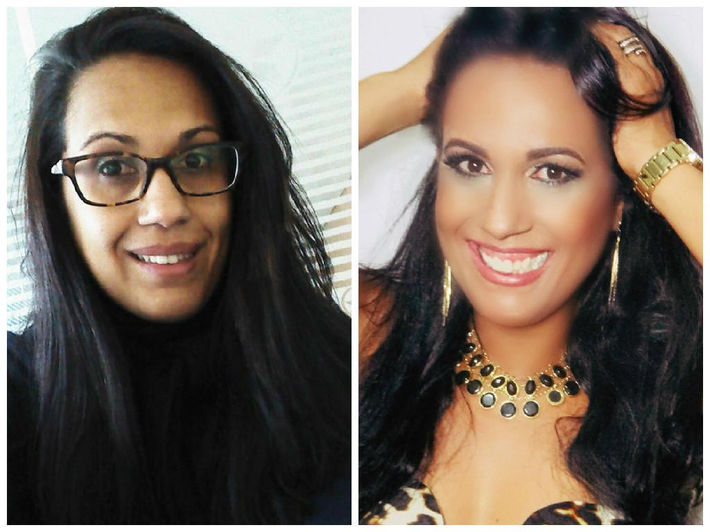 Antes e Depois de Elaine Fideles