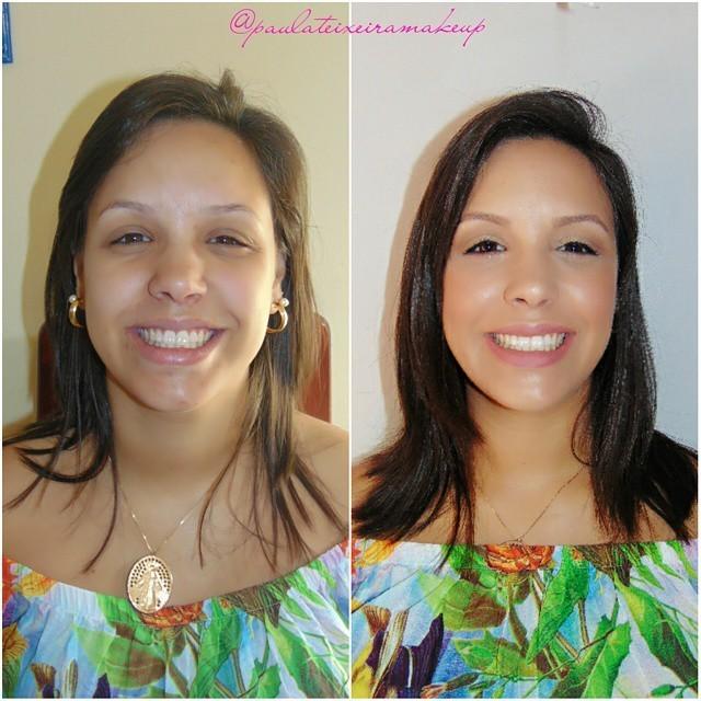 Antes e depois Antes e depois para ensaio fotográfico  maquiador(a) designer de sobrancelhas depilador(a)
