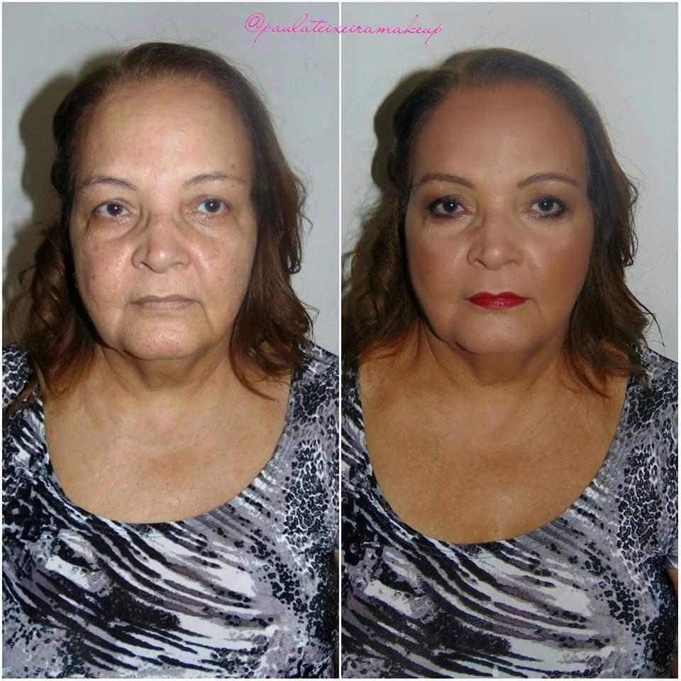 Antes e depois batom vermelho  maquiagem  maquiador(a) designer de sobrancelhas depilador(a)