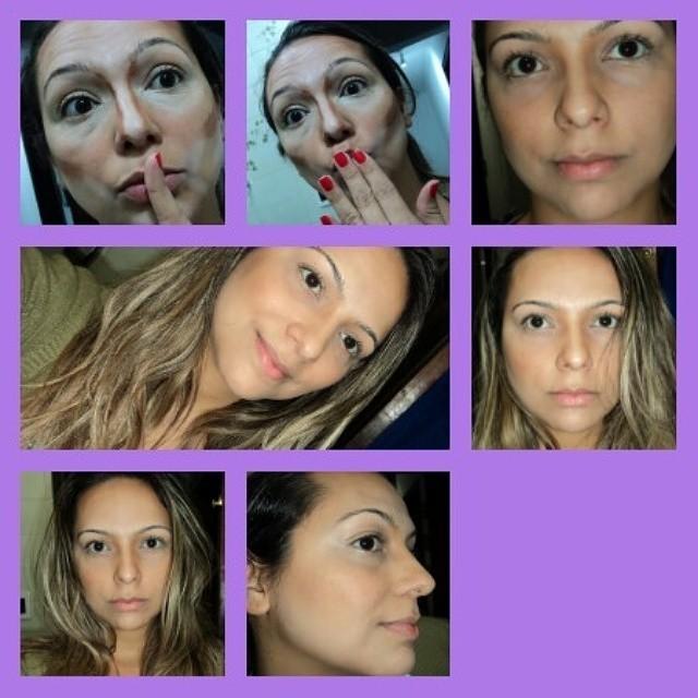 Contorno (sem preparação de pele) com resultado incrível! maquiador(a)