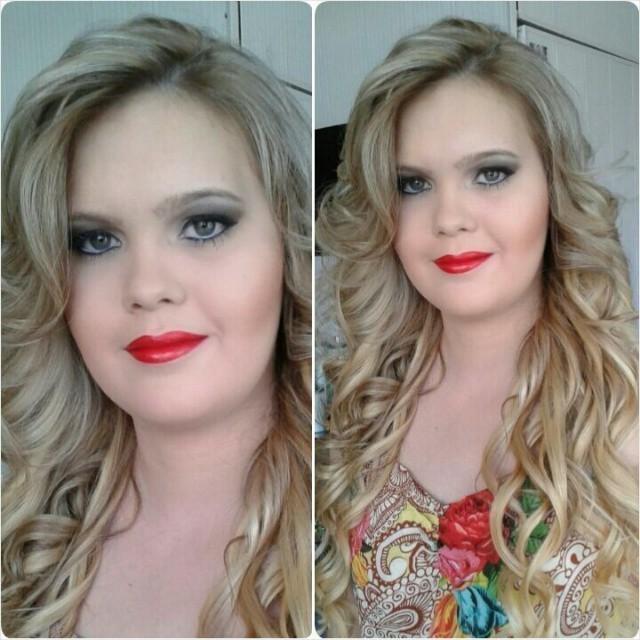 batom vermelho  maquiagem  cabeleireiro(a)