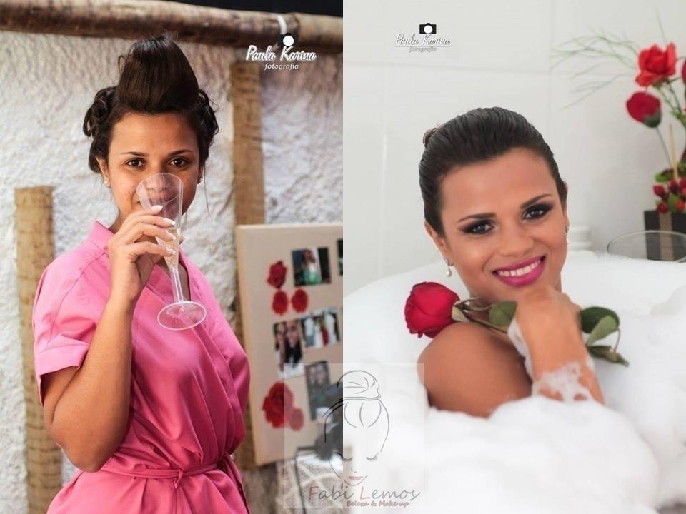 Antes e depois noiva Daniele. maquiador(a) docente / professor(a) designer de sobrancelhas manicure e pedicure esteticista