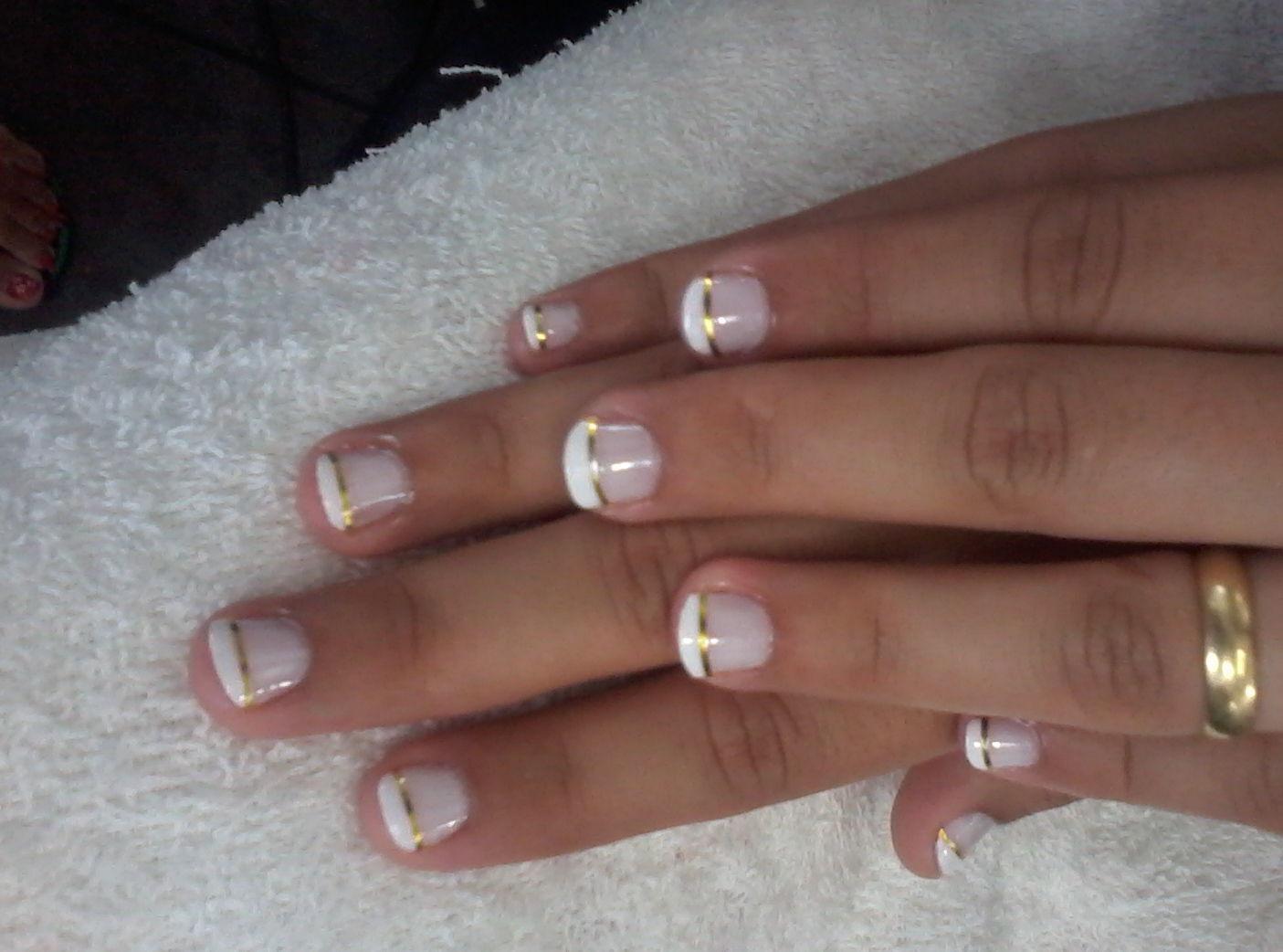 Francesinha com fio de ouro manicure e pedicure manicure e pedicure manicure e pedicure