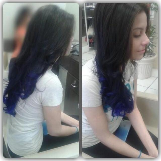 Californiana  Machas  azuis para meninas cabeleireiro(a)