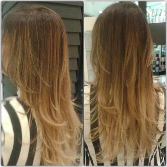 Umbrehair Tendência  de inverno mechas de canela cabelo cabeleireiro(a)