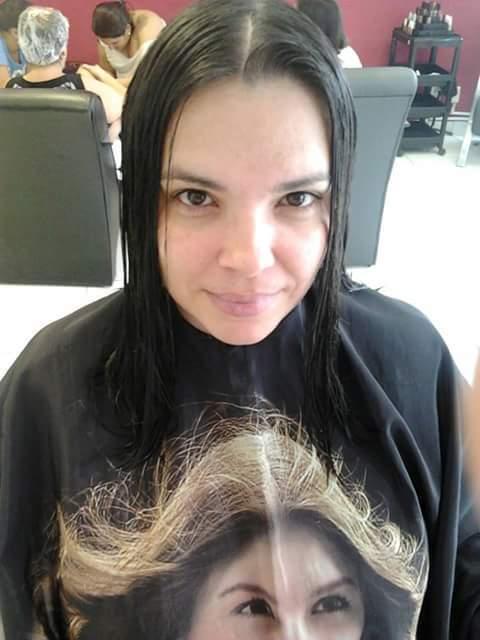 Antes Corte cabeleireiro(a) maquiador(a) designer de sobrancelhas