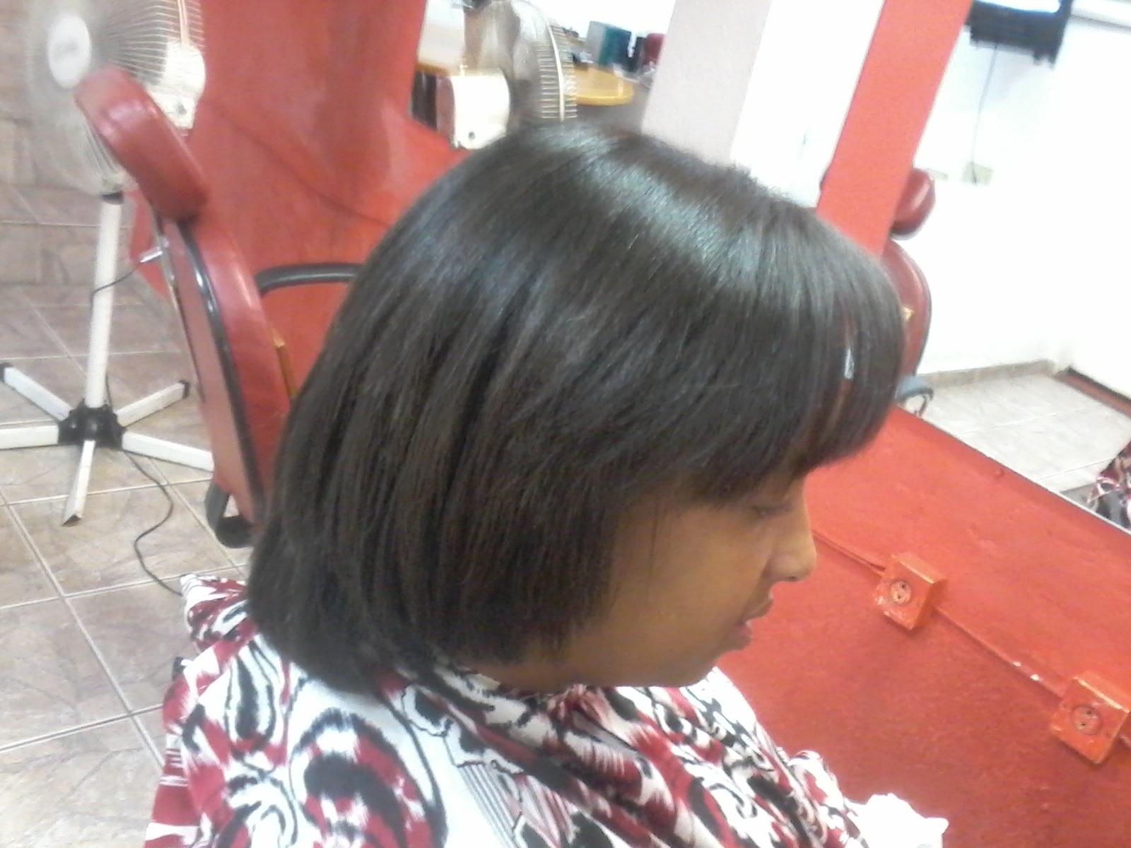 progressiva e corte preparando pra um alongamente Fiz progressiva corte pra colocar alongamento cabeleireiro(a)