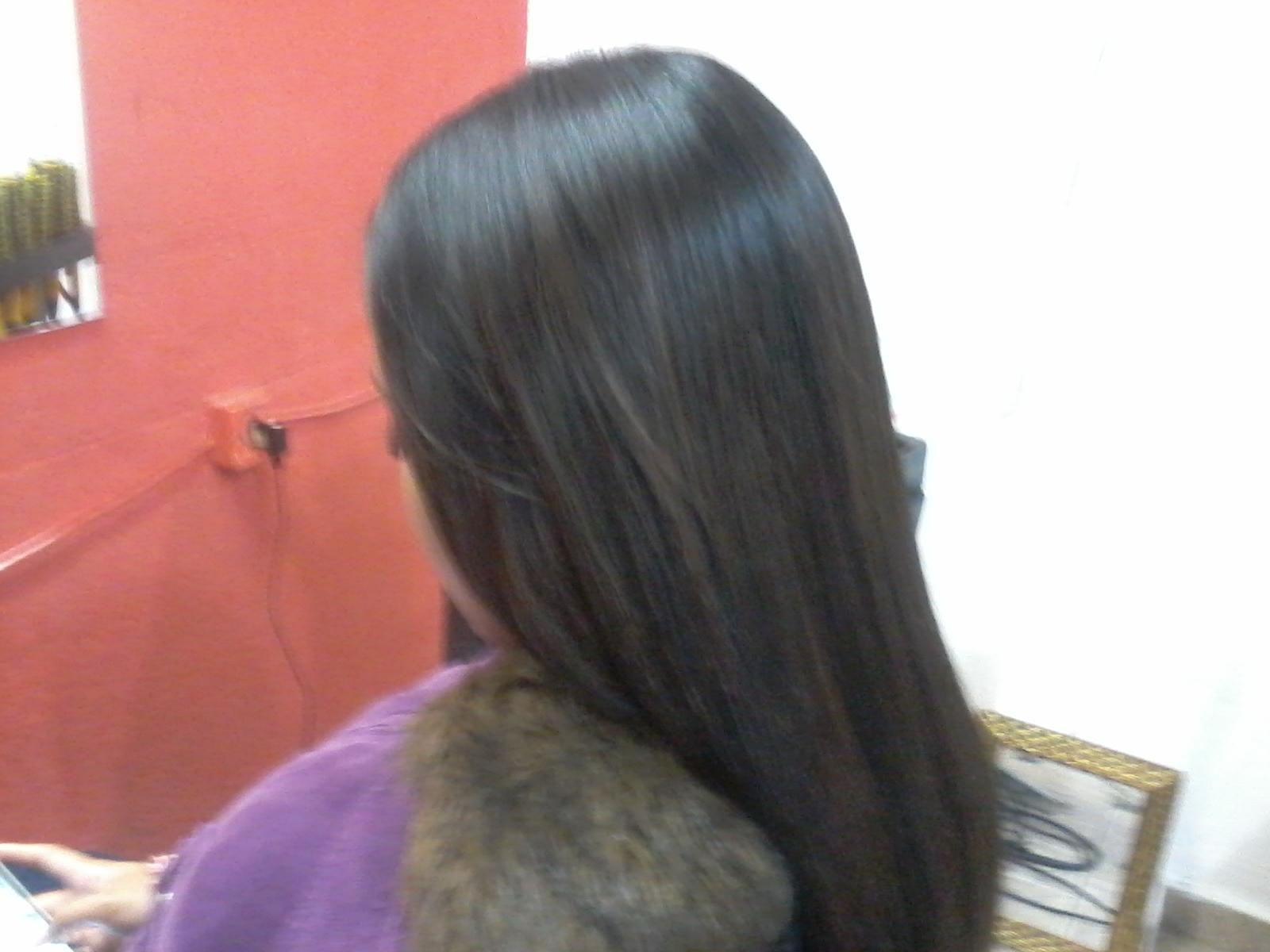 progressiva pronta Depois de seco passo o produto seco e prancho o efeito depois de lavado e seco cabeleireiro(a)