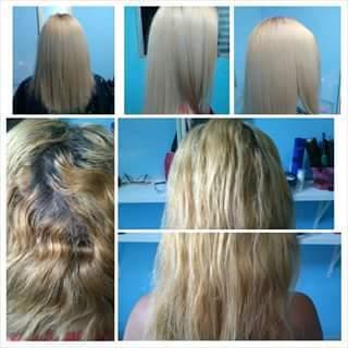 Correção de cor + Raiz esfumada Foi feita a limpeza de cor, tonalização + matização e a raiz foi esfumada com o tom mais próximo de sua raiz natural.  cabeleireiro(a) auxiliar cabeleireiro(a)