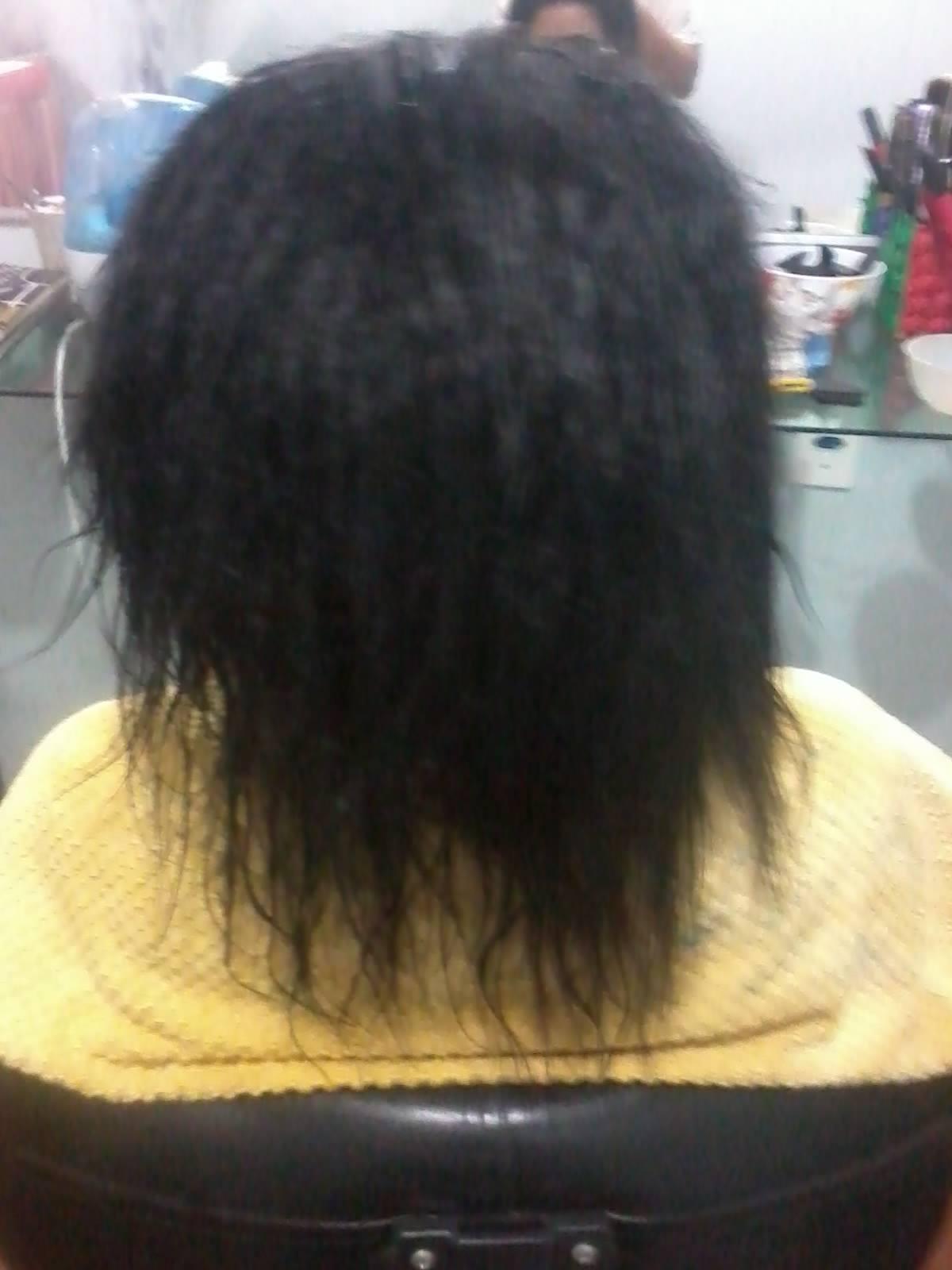 antes cabelo lavado com shampoo anti resíduos. cabeleireiro(a)