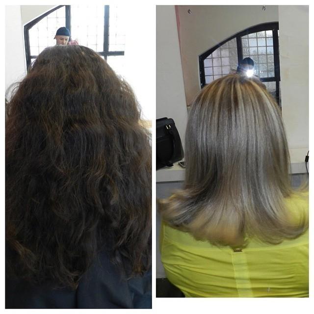 ANTES E DEPOIS cabeleireiro(a) docente / professor(a)