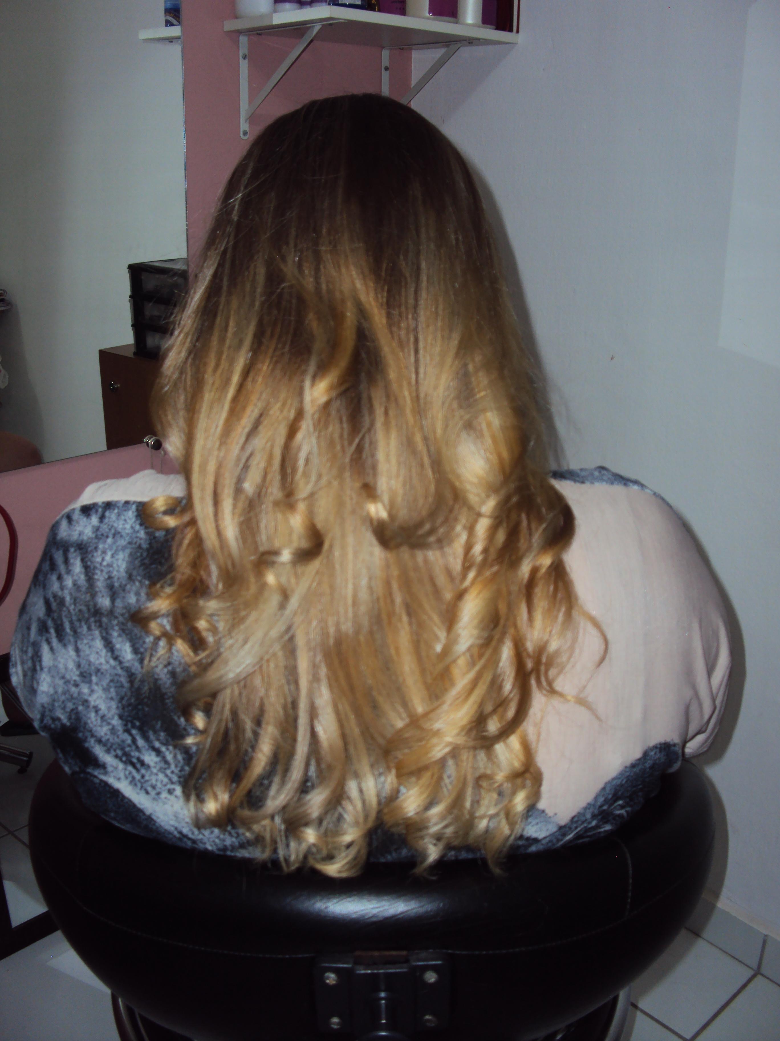 DEPOIS OMBRÉ HAIR cabeleireiro(a) recepcionista designer de sobrancelhas depilador(a)